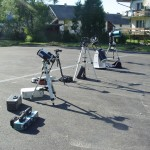 Equipment used for sky observation in Starry-Sky Park Bieszczady
