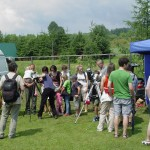 Observation of the Sun during horse trade show in Lutowiska